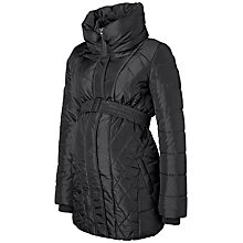 Buy Mamalicious Yasmin Padded Quilt Maternity Jacket, Black Online at johnlewis.com