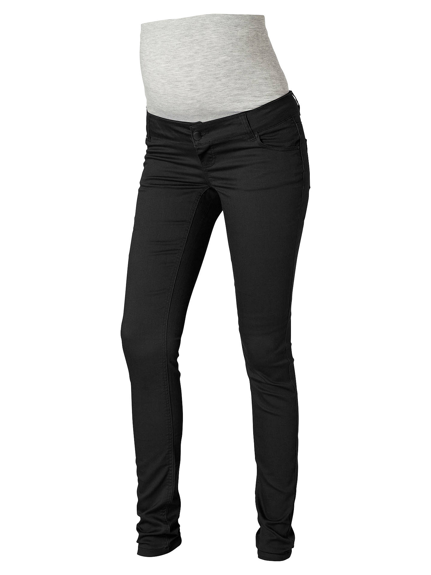 c69c206841d0a Buy Mamalicious Noos Shelly Slim Fit Maternity Jeans, Black, 27R Online at  johnlewis.