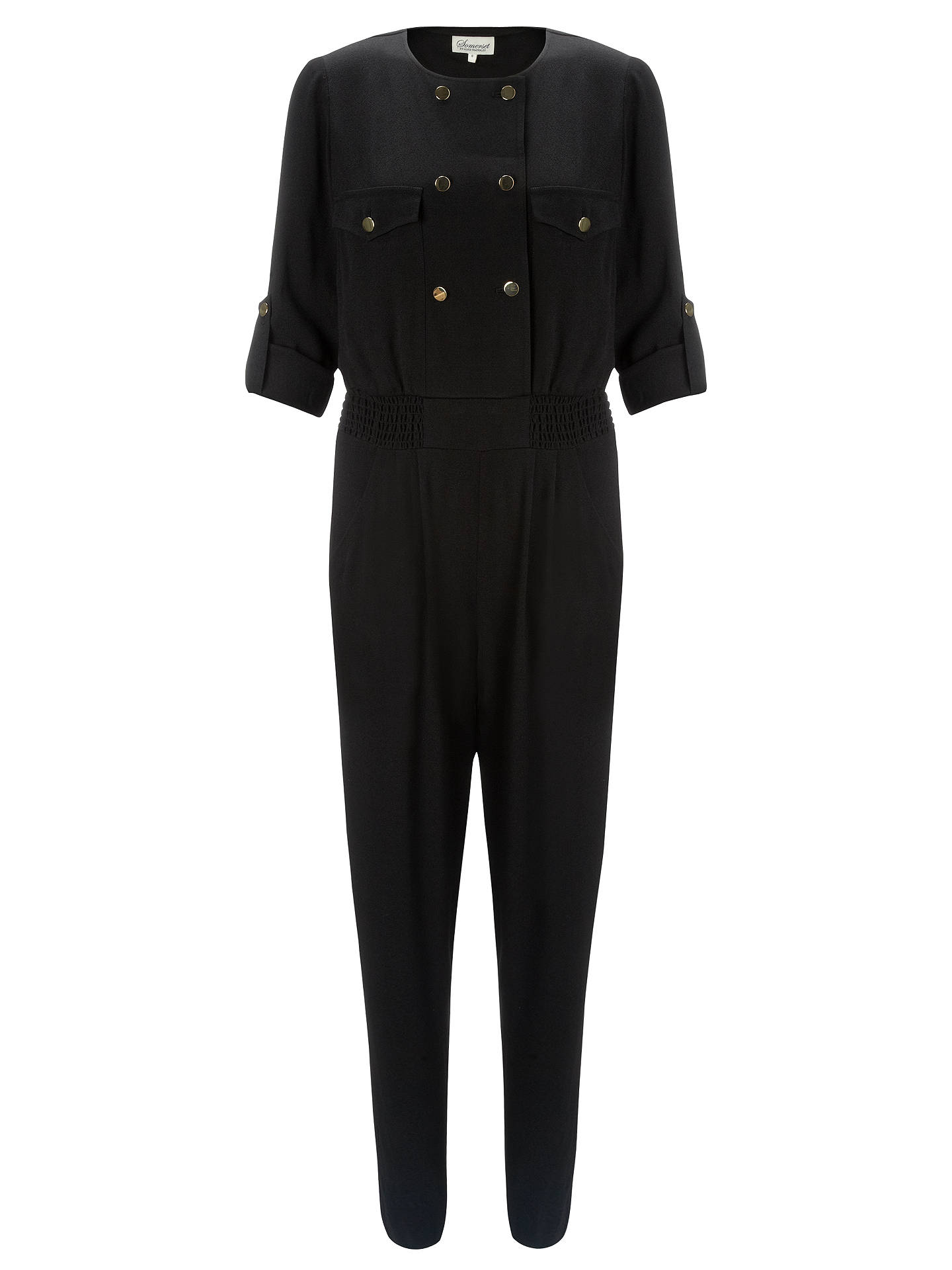 BuySomerset by Alice Temperley Military Jumpsuit, Black, 6 Online at johnlewis.com