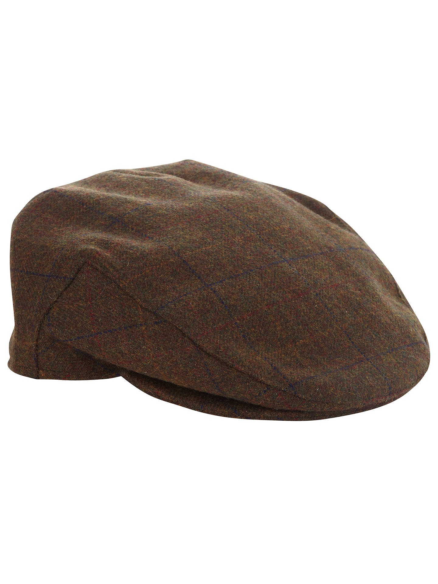 a2da83022 John Lewis Tweed Flat Cap, Brown at John Lewis & Partners