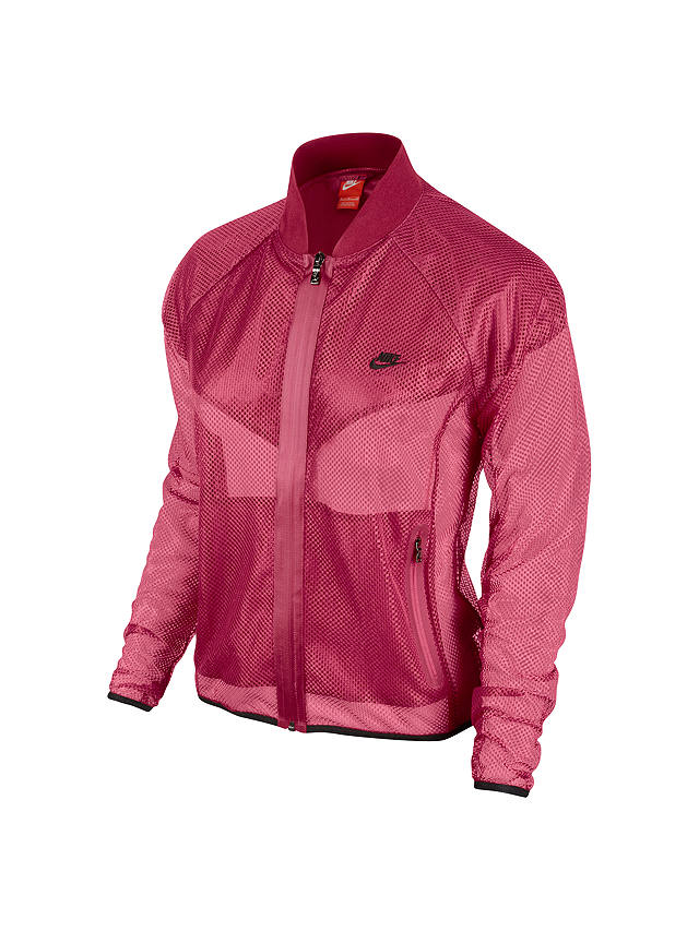 Buy Nike Women's Sunset Mesh Jacket, Red, M Online at johnlewis.com