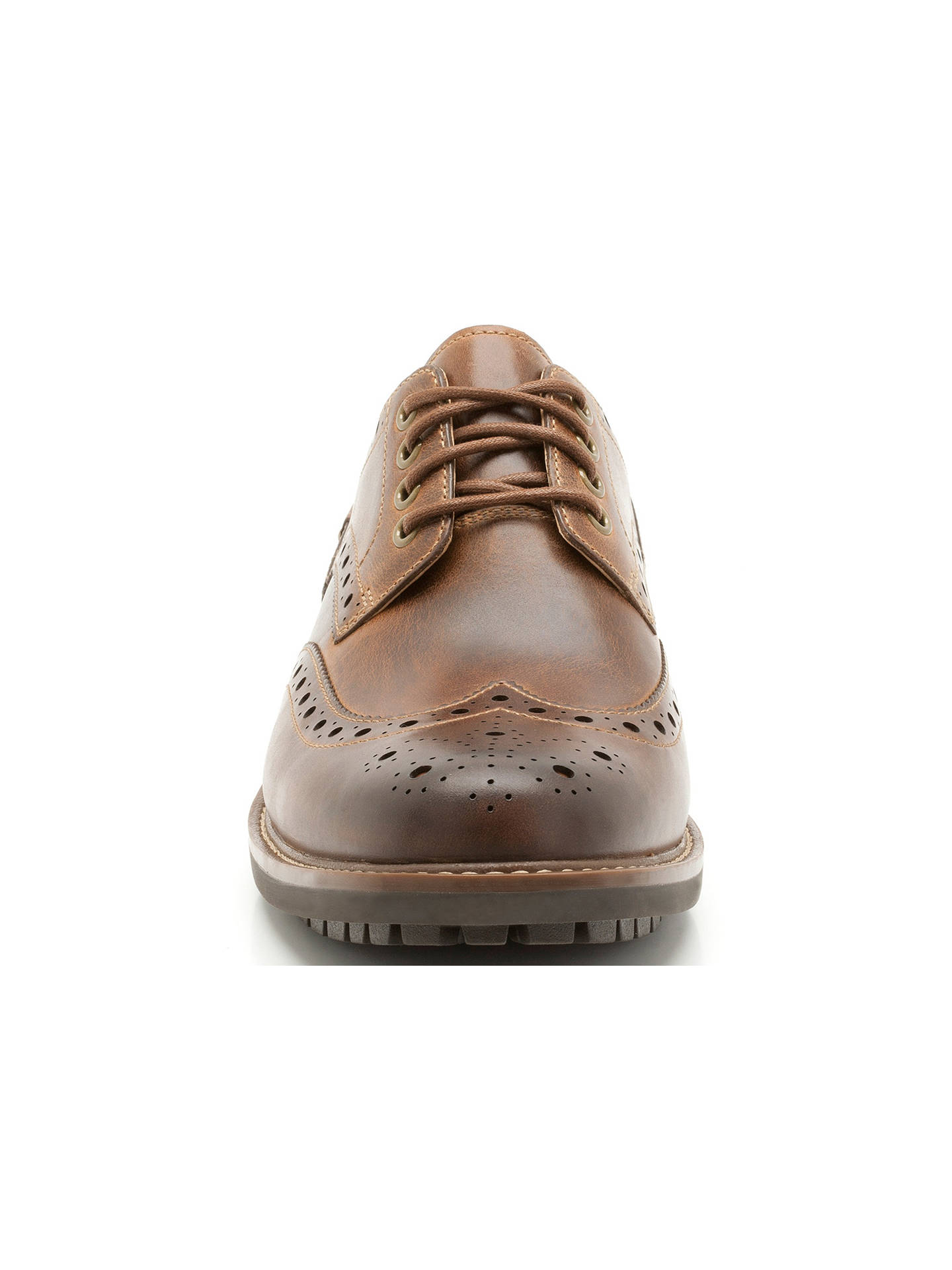 8940bee44984f ... BuyClarks Montacute Wing Leather Brogue Shoes, Dark Tan, 6 Online at  johnlewis.com ...