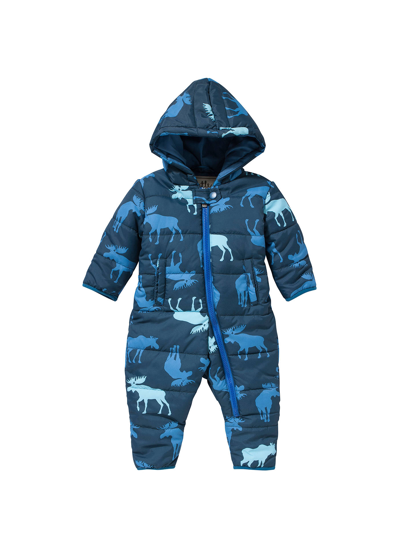 a117be09a Buy Hatley Baby Moose Print Snowsuit, Navy, 6-12 months Online at johnlewis  ...