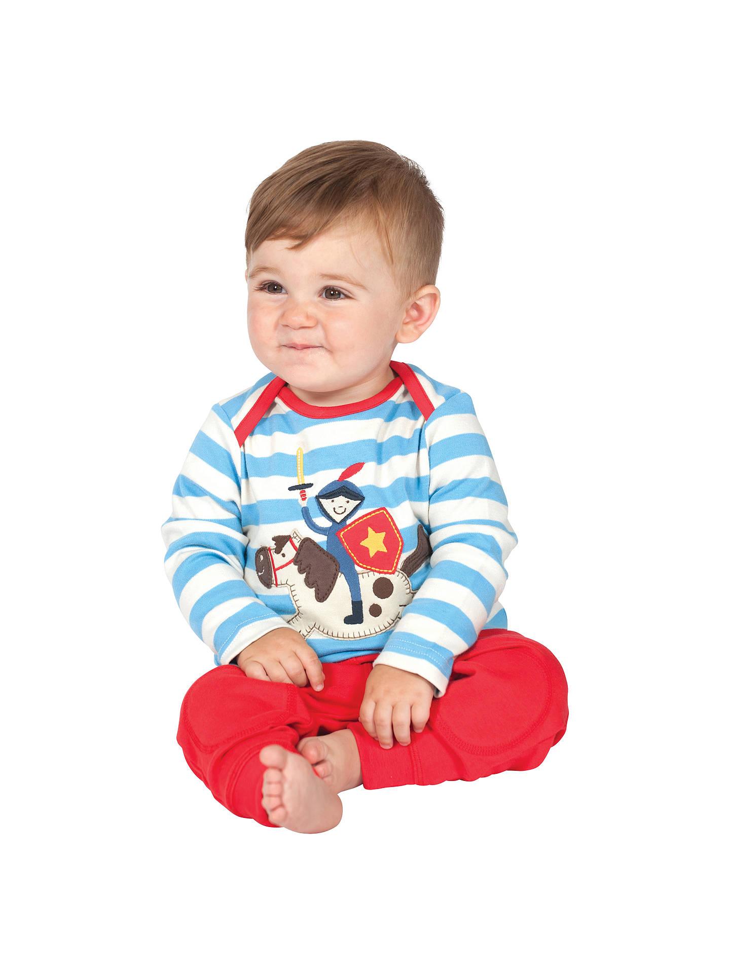768c5401b0dce Frugi Baby Stripe Knight Top, Blue/White at John Lewis & Partners