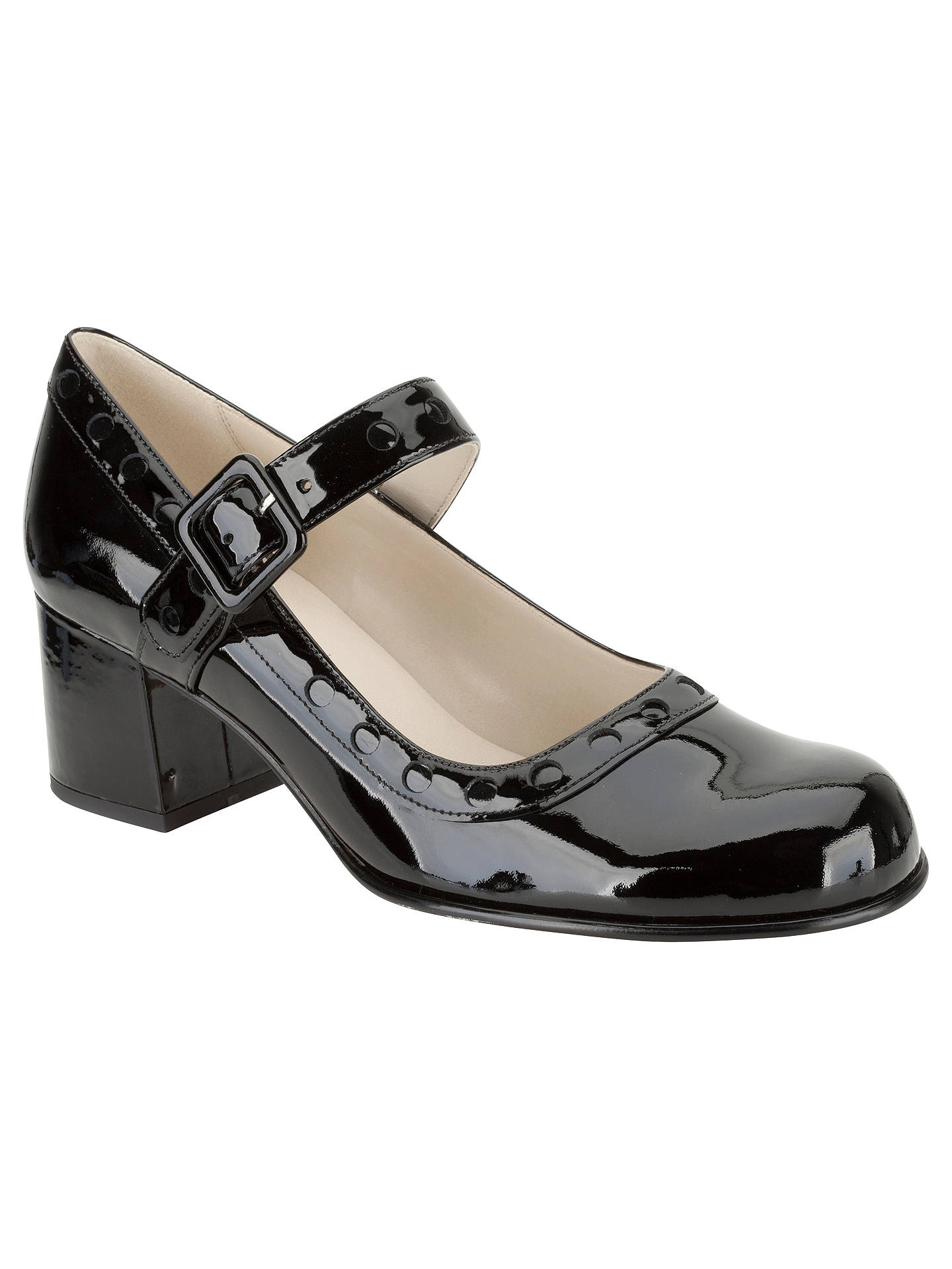 f4b87527bcf Clarks Orla Kiely Dorothy Patent Leather Mary-Jane Court Shoes at ...