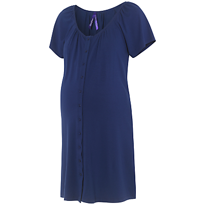 Product photo of S raphine gemma twobutton maternity nightdress mid blue
