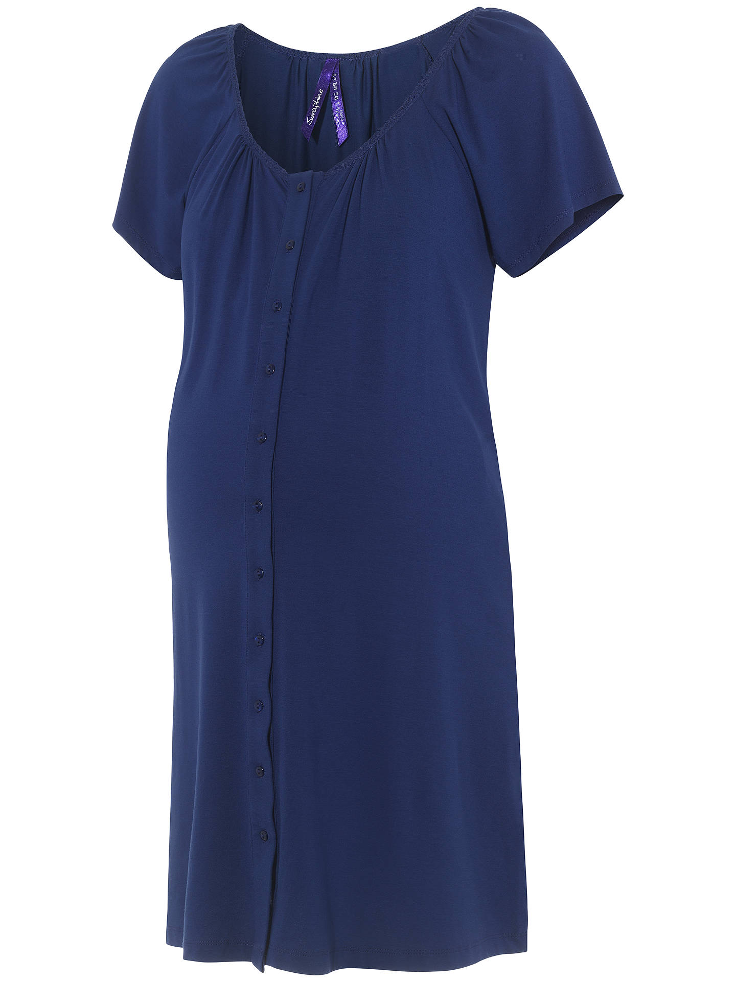 7795832f94405 ... Buy Séraphine Gemma Two-Button Maternity Nightdress, Mid Blue, 8 Online  at johnlewis