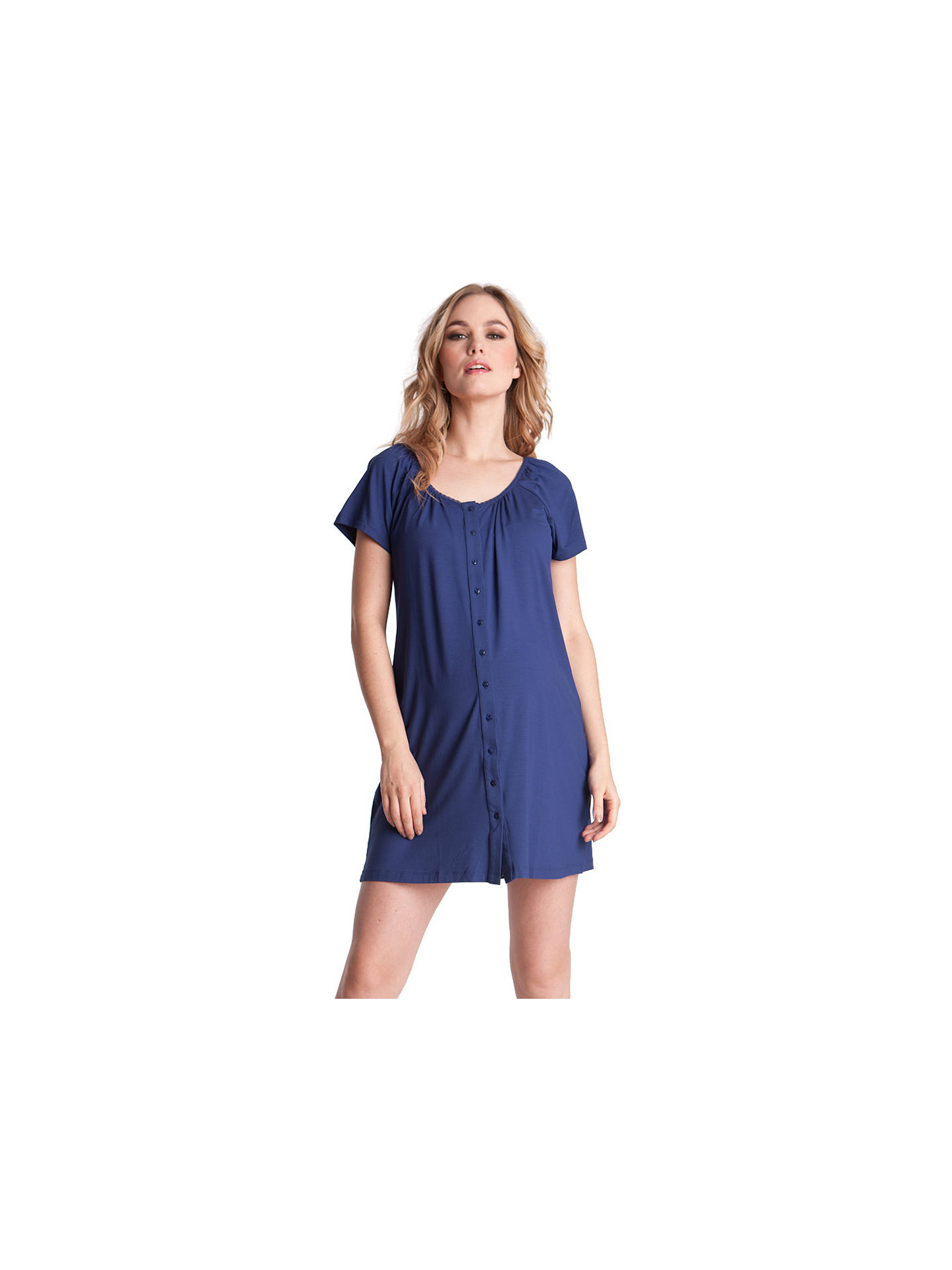 8e29c75afc5c4 Buy Séraphine Gemma Two-Button Maternity Nightdress, Mid Blue, 8 Online at  johnlewis ...