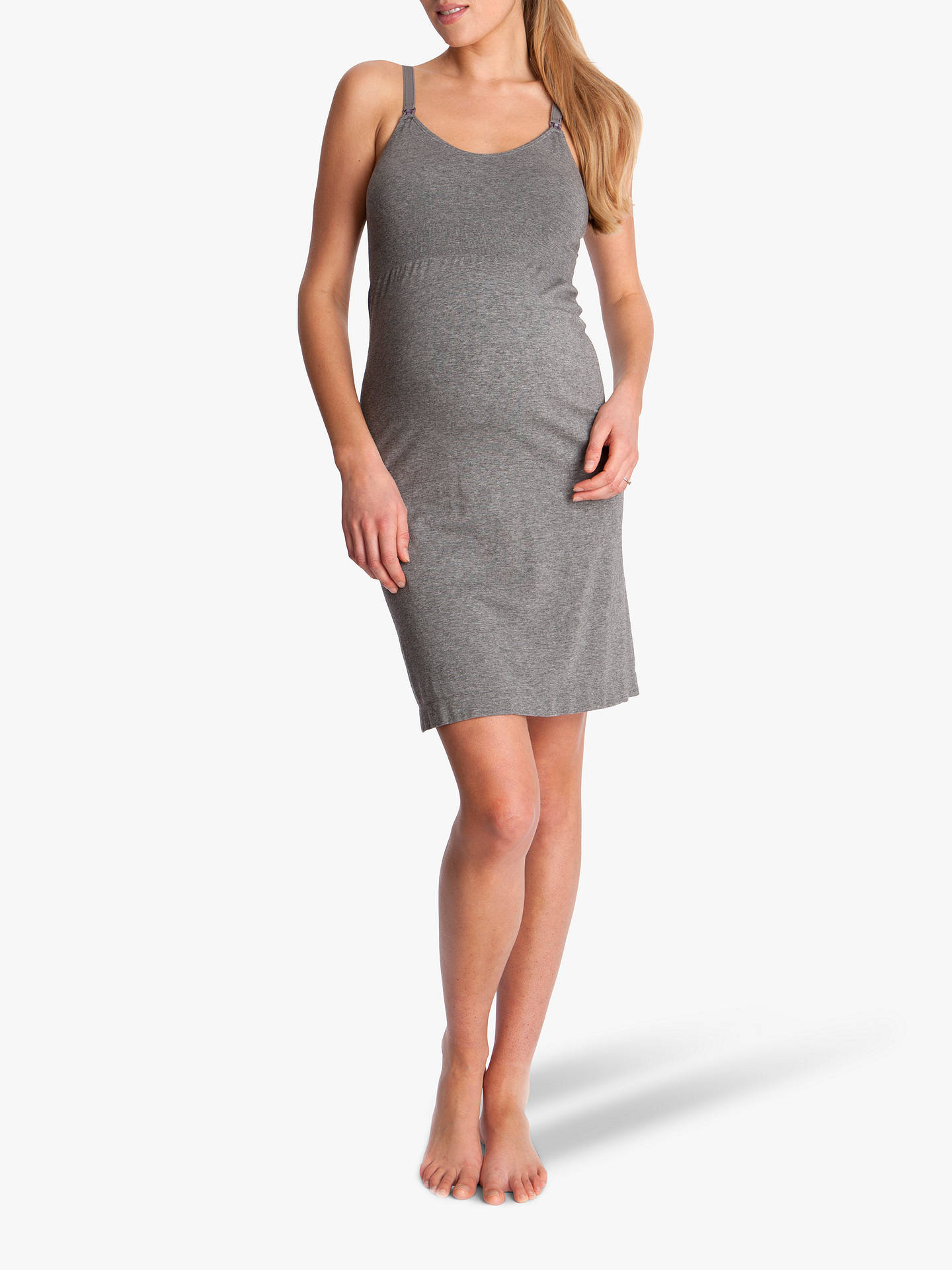 BuySéraphine Georgia Seamless Maternity Nightdress, Grey Marl, S Online at johnlewis.com