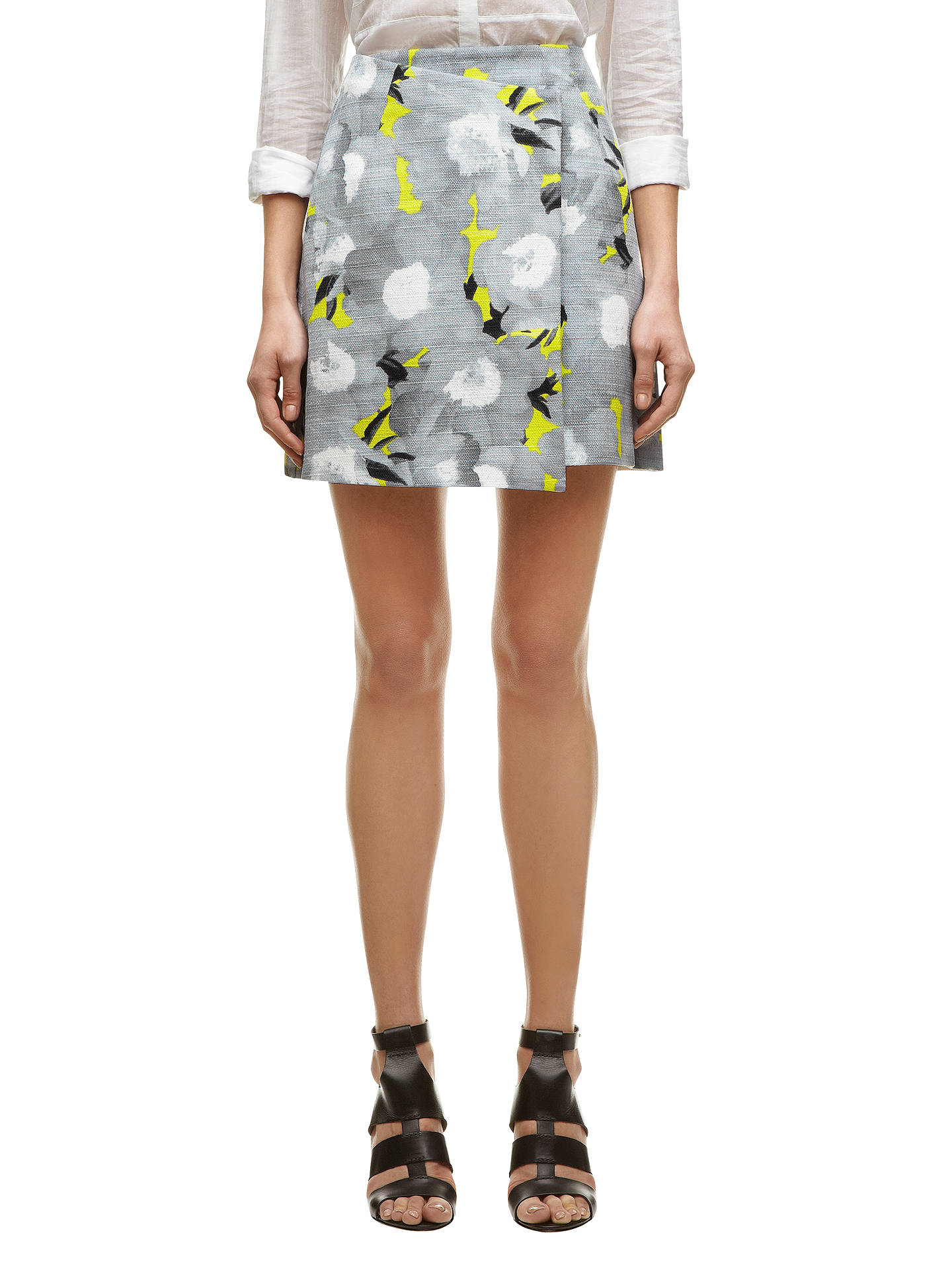 Buy Whistles Mystic Floral Wrap Skirt, Grey, 10 Online at johnlewis.com