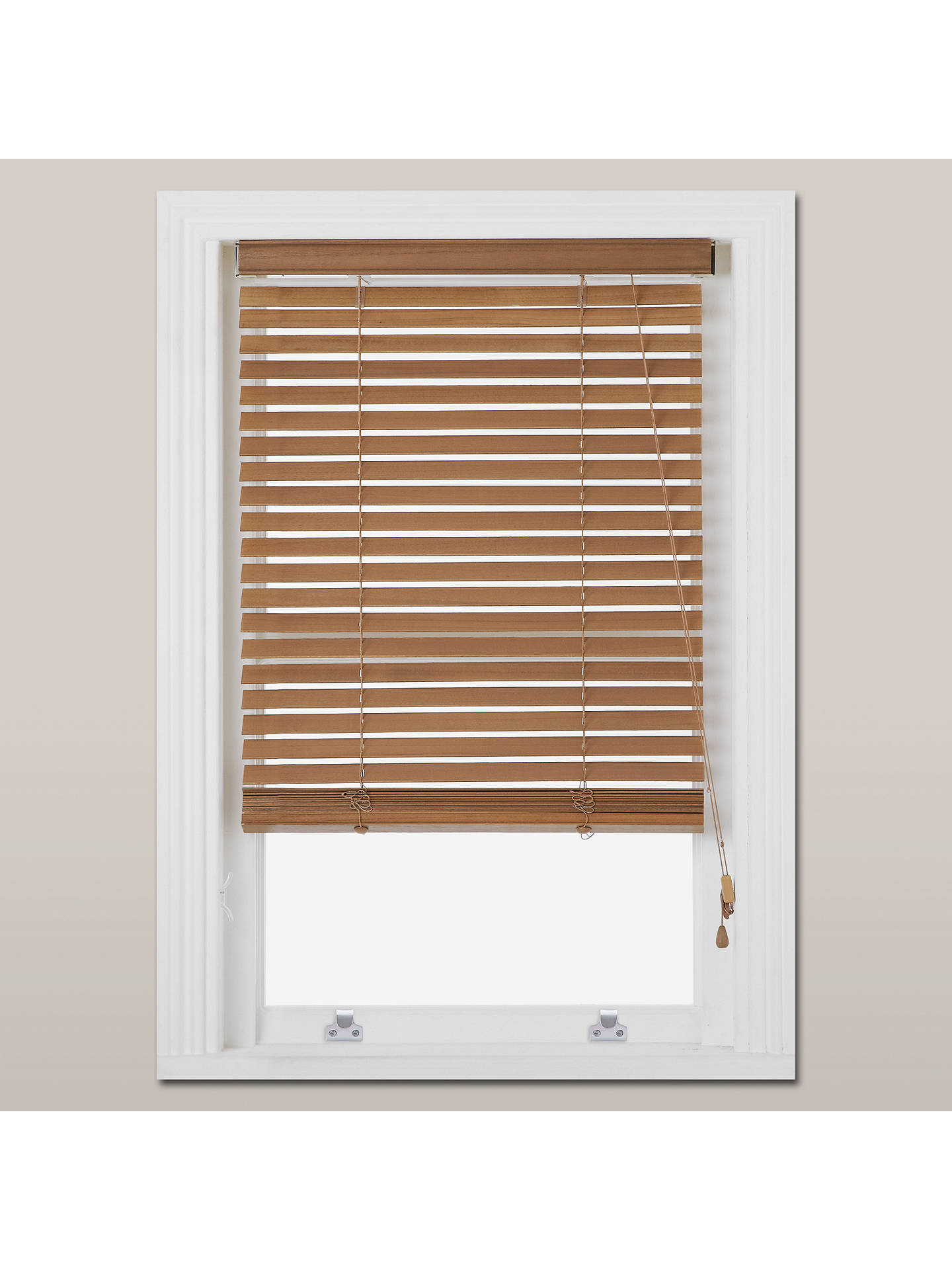John Lewis Partners Wood Venetian Blind Fsc Certified 35mm At