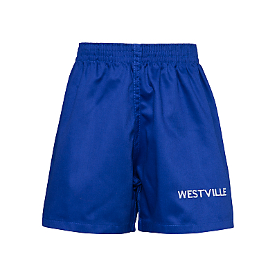 Product photo of Westville house school games shorts royal blue