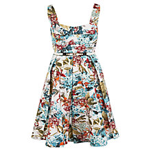 Buy Chesca Floral Print Sateen Belted Dress, Multi Online at johnlewis.com