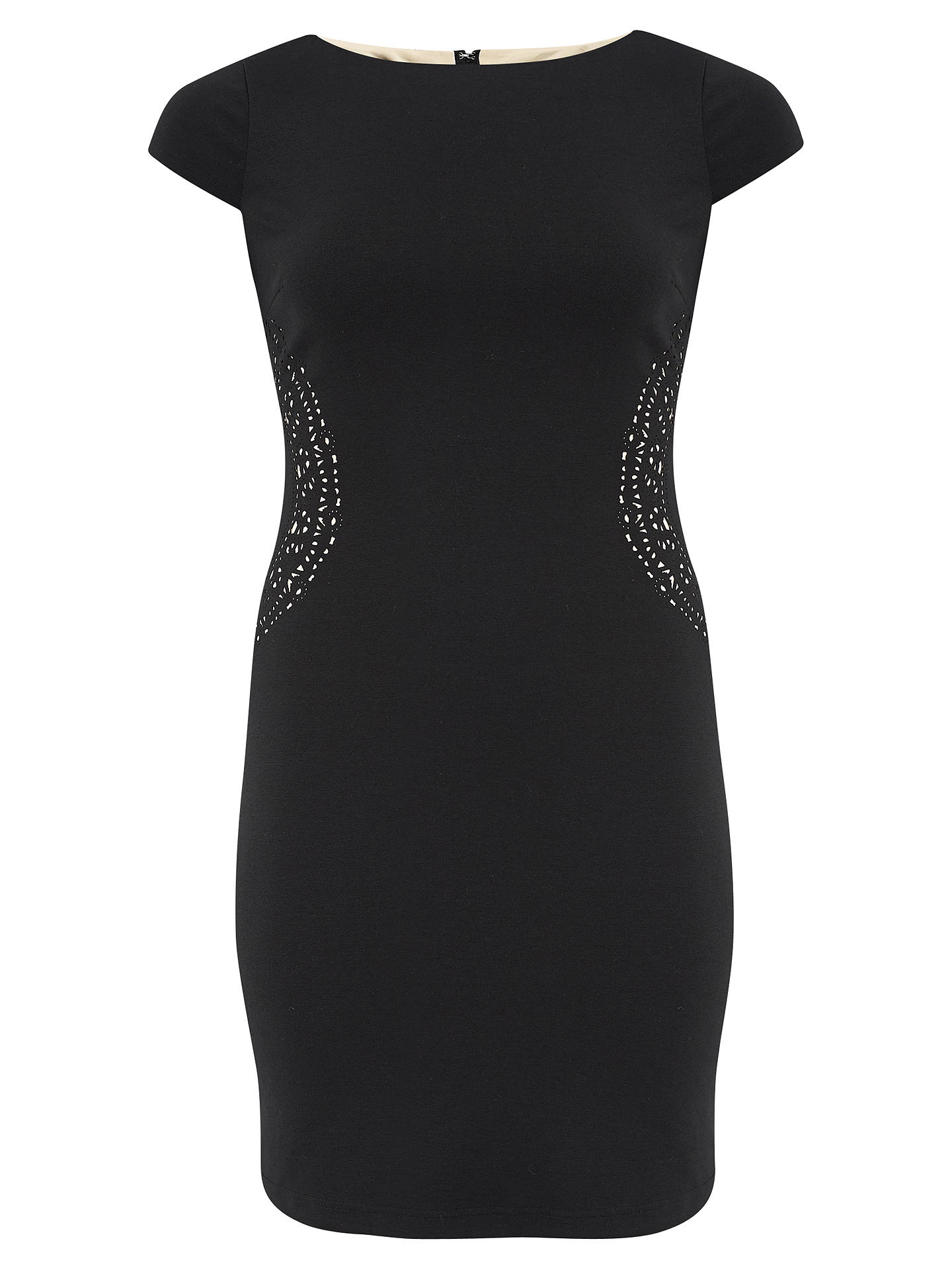 BuyChesca Cut-Out Ponte Shift Dress, Black, 12 Online at johnlewis.com