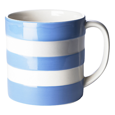 Cornishware Mug, Blue/White, 420ml