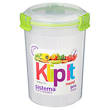 Buy Sistema Klip It Round Food Storage Container Online at johnlewis.com