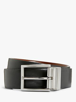 John Lewis & Partners Made In Italy Reversible Belt, Black/Brown