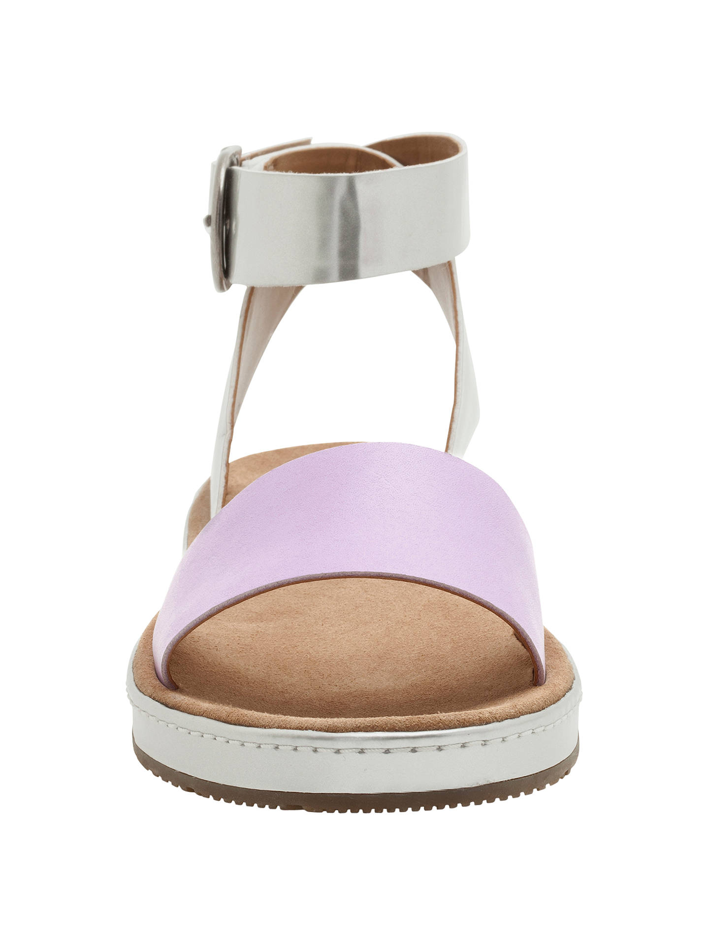 0aa769ff991 Clarks Romantic Moon Leather Flat Sandals at John Lewis   Partners