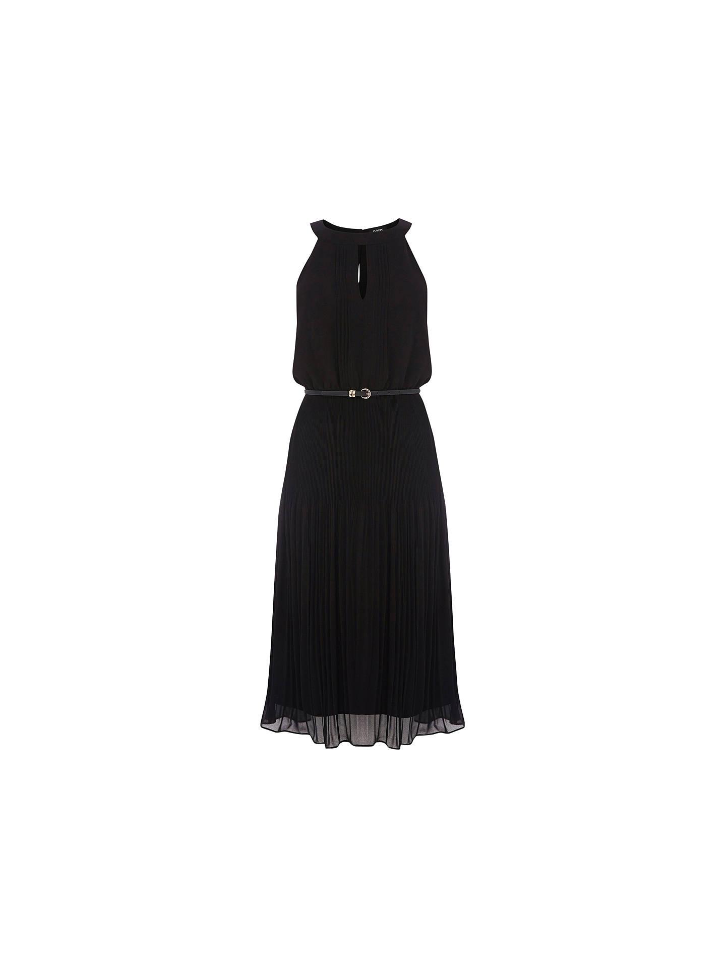 be718efa3e38 Buy Oasis Chiffon Pleated Midi Dress, Black, 8 Online at johnlewis.com ...