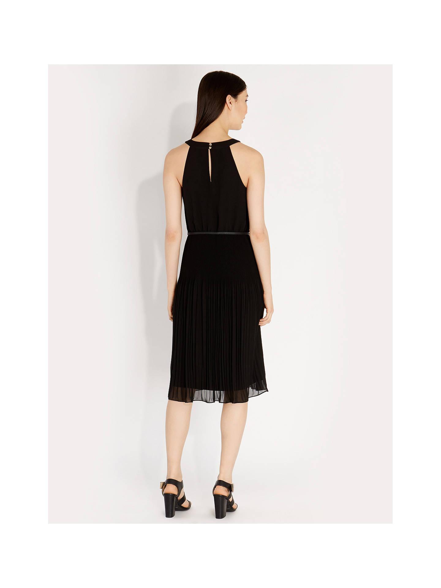 873a82631772 ... Buy Oasis Chiffon Pleated Midi Dress, Black, 8 Online at johnlewis.com  ...