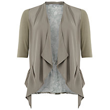 Buy Chesca Chiffon Jersey Trim Shrug, Khaki Online at johnlewis.com