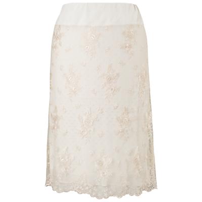 Chesca Scalloped Lace Skirt, Vanilla