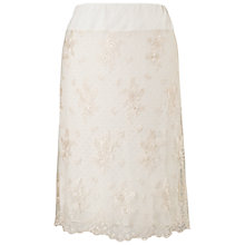 Buy Chesca Scalloped Lace Skirt, Vanilla Online at johnlewis.com