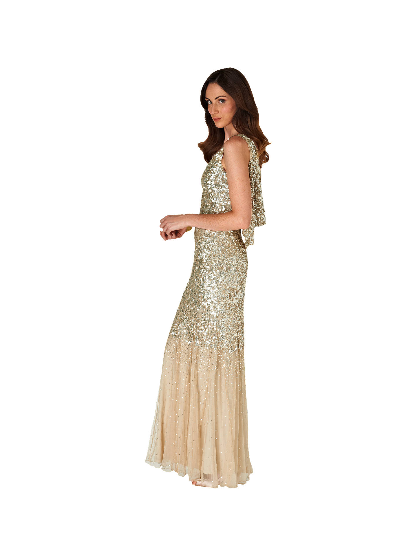 da2a183d5289 Buy Phase Eight Collection 8 Luna Sequin Dress, Gold, 6 Online at johnlewis.