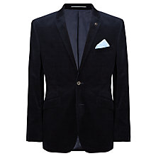 Buy John Lewis Corduroy Tailored Blazer, Navy Online at johnlewis.com