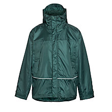 Buy The Cedars School Cagoule, Forest Green Online at johnlewis.com