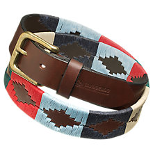 Buy pampeano Polo Leather Belt, Multi Online at johnlewis.com