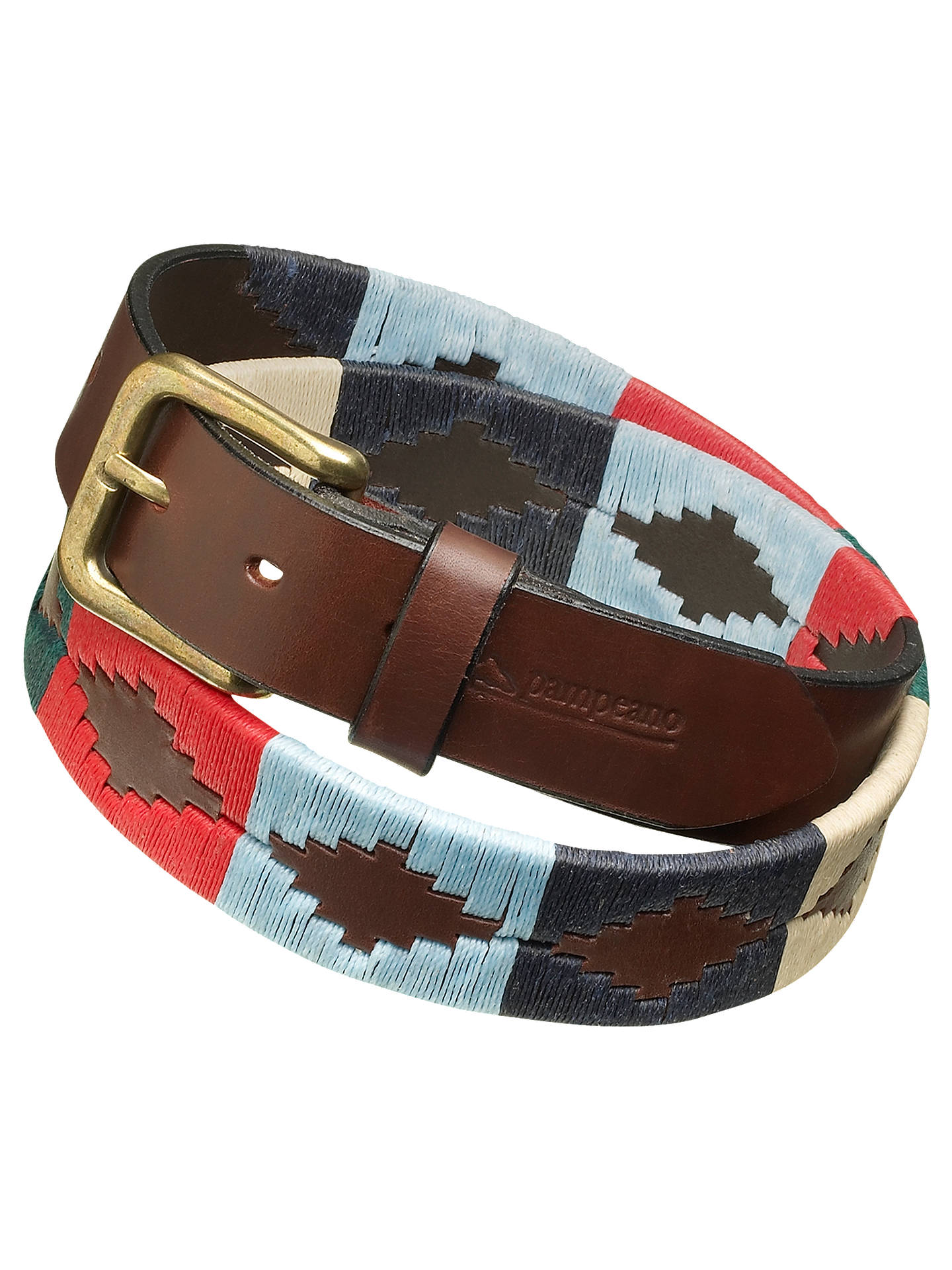 Buy pampeano Polo Leather Belt, Multi, S Online at johnlewis.com