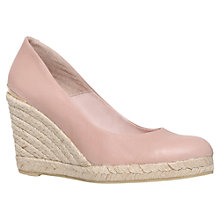 Buy Carvela Kut High Heel Leather Wedges, Nude Online at johnlewis.com