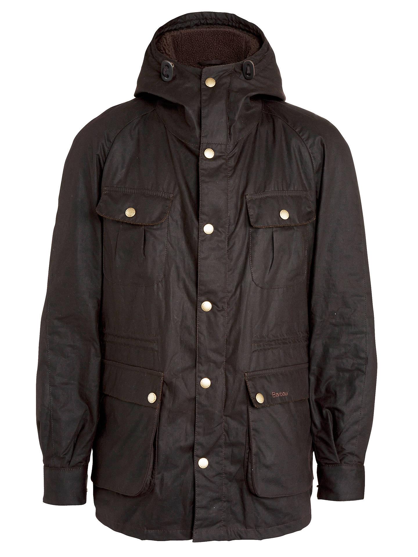 Barbour Northolt Hooded Parka Jacket, Rustic at John Lewis & Partners