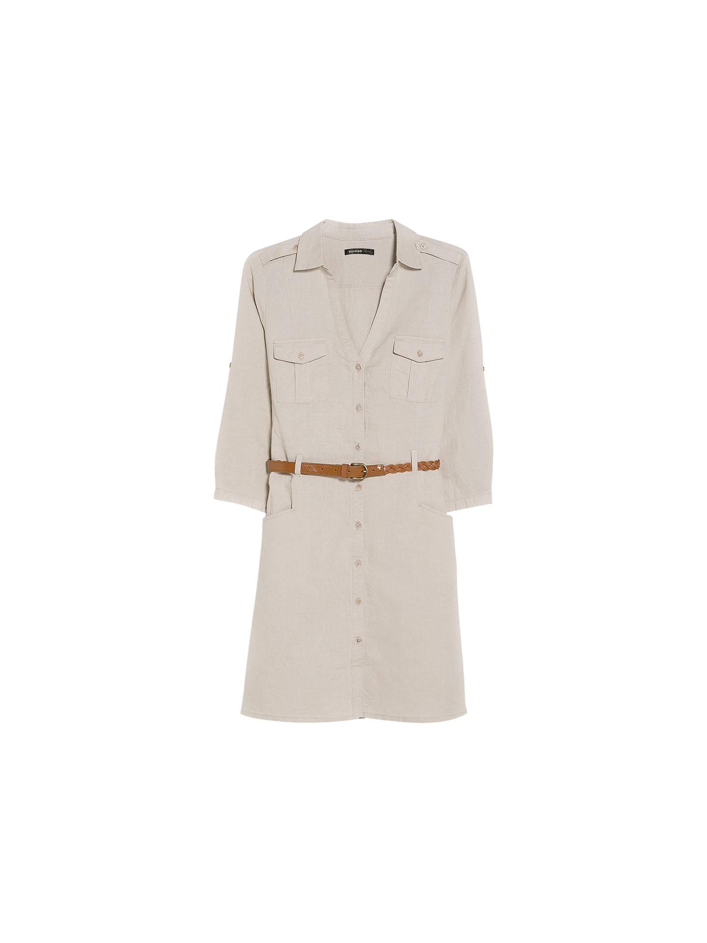 ee09e786c0f Mango Linen Blend Shirt Dress at John Lewis   Partners