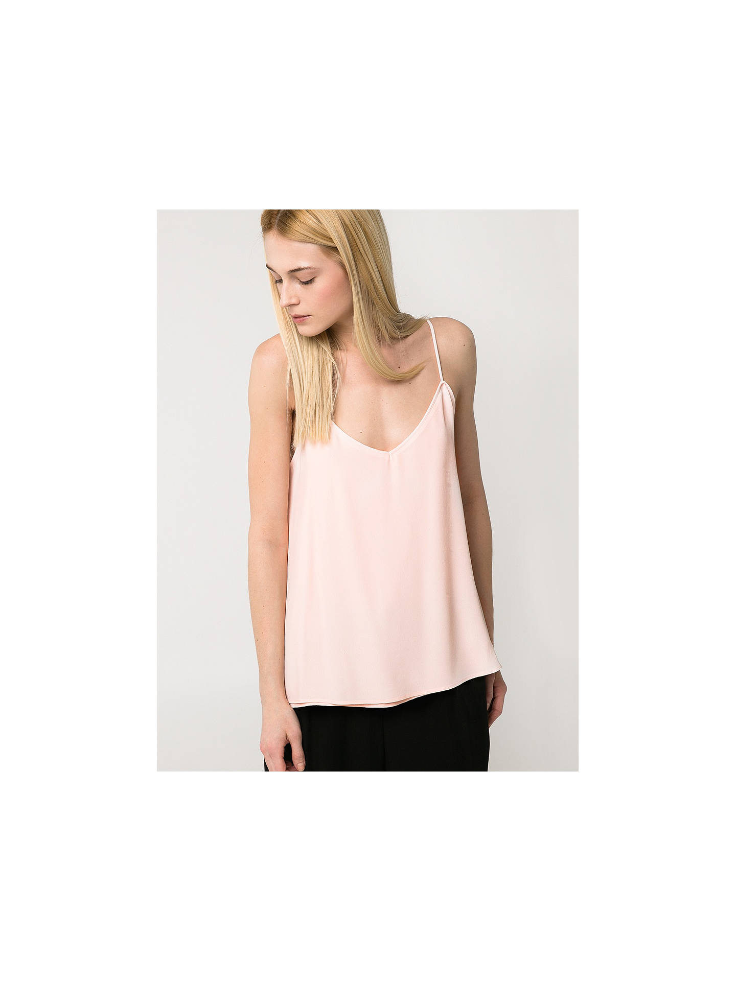 BuyMango Flowy Strap Top, Light Pastel Pink, XS Online at johnlewis.com