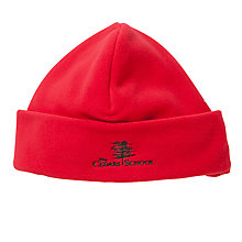 Buy The Cedars School Embroidered Fleece Hat, Red Online at johnlewis.com