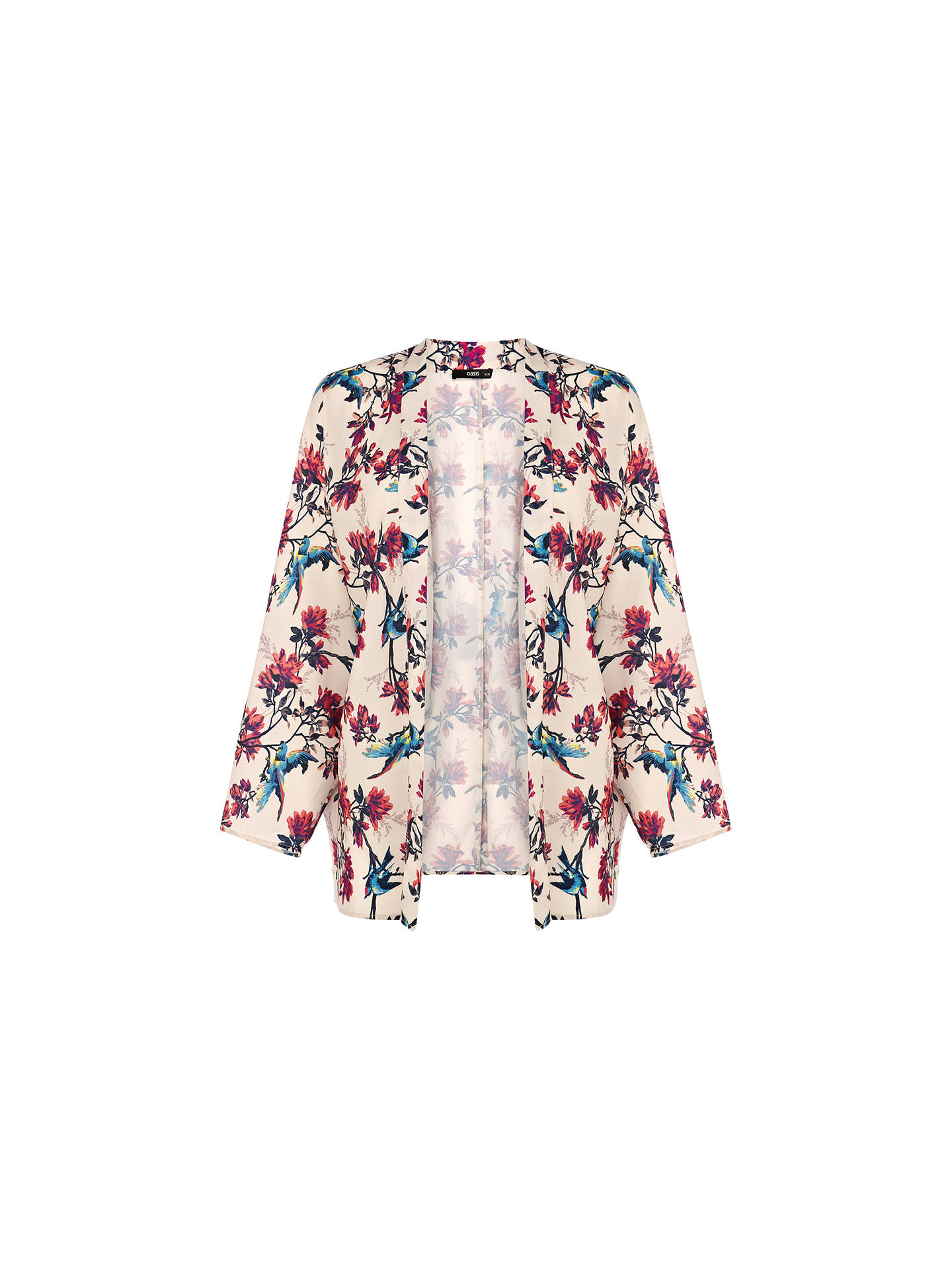8a0b3becb550 Buy Oasis Bird Kimono Jacket, Off White, 8 Online at johnlewis.com ...