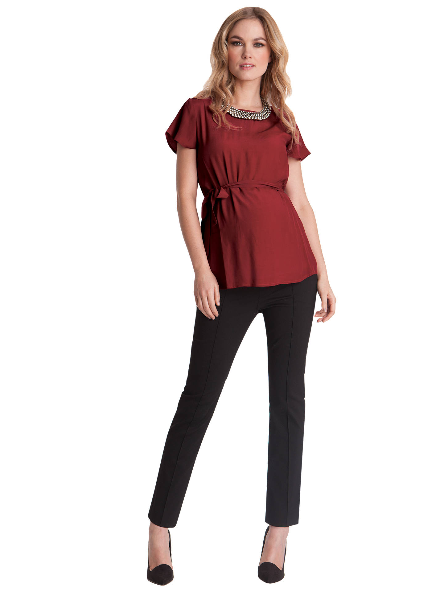 f00381b1bcfe0 ... Buy Séraphine Carrie Crop Maternity Trousers, Black, 8 Online at  johnlewis.com ...