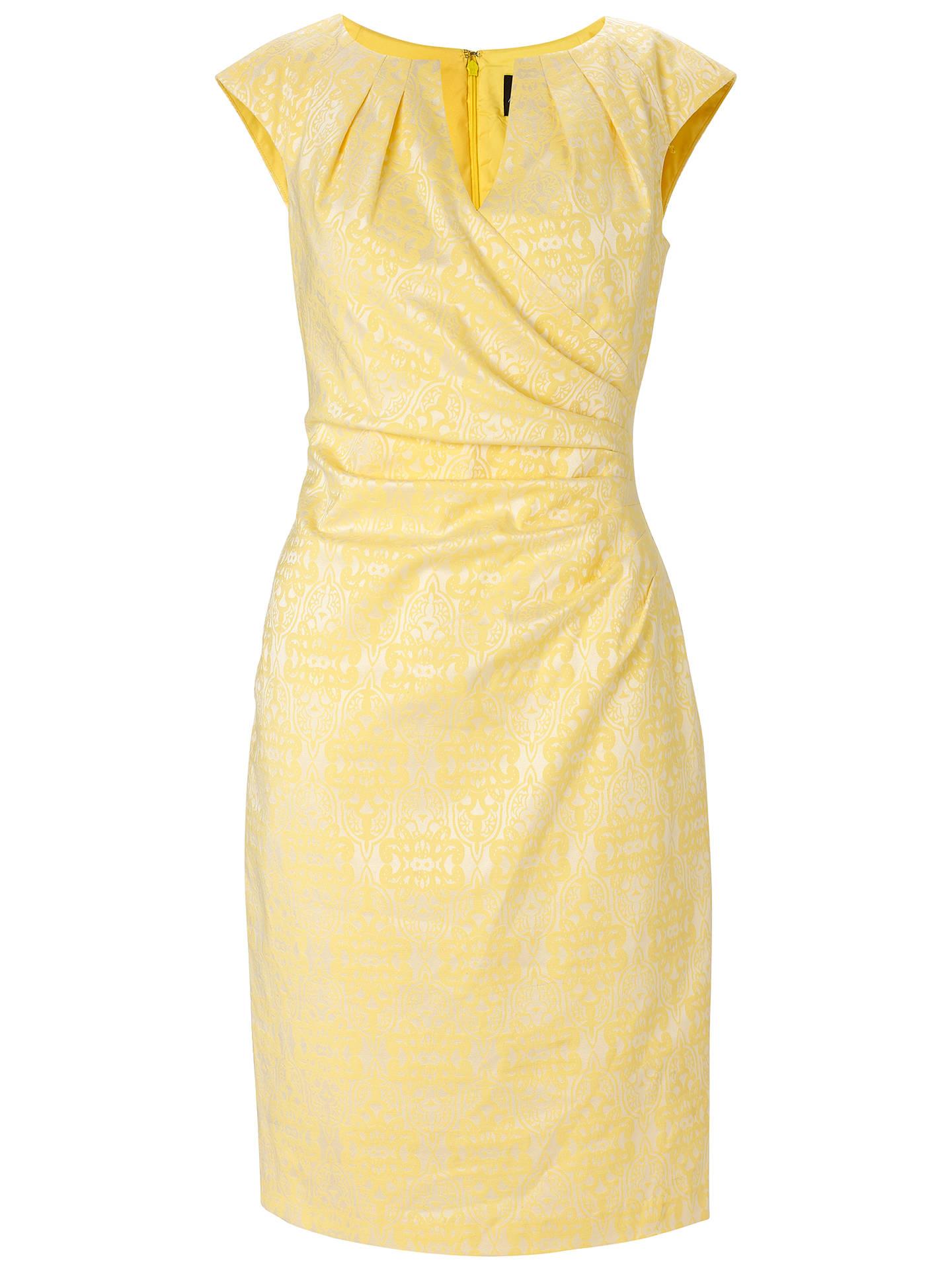 Adrianna Papell Pleated Teacup Dress, Lemon Ice at John