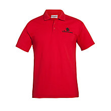 Buy The Cedars School Sports Polo Shirt, Red Online at johnlewis.com