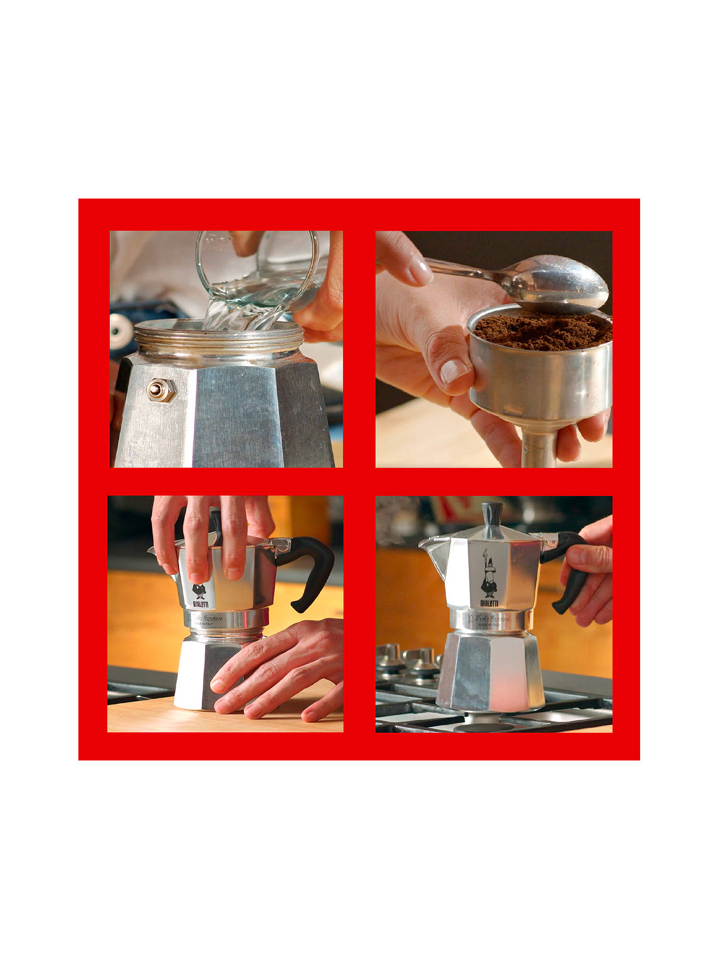 Buy Bialetti Moka Express Hob Espresso Maker, 1 Cup Online at johnlewis.com