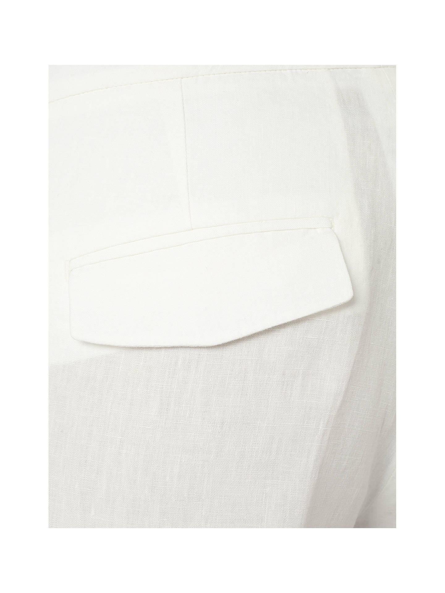 Buy Jigsaw Linen Wide Leg Trousers, White, 8 Online at johnlewis.com