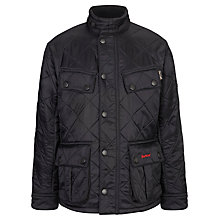 Buy Barbour Boys' Ariel Polar Quilted Jacket, Black Online at johnlewis.com