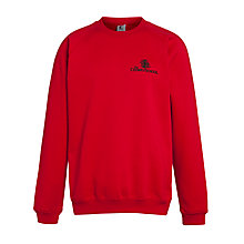 Buy The Cedars School Sweatshirt, Red Online at johnlewis.com