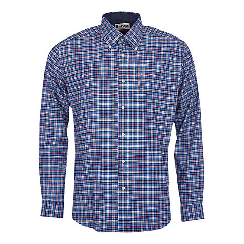 Buy Barbour Bisley Checked Shirt, Blue Online at johnlewis.com