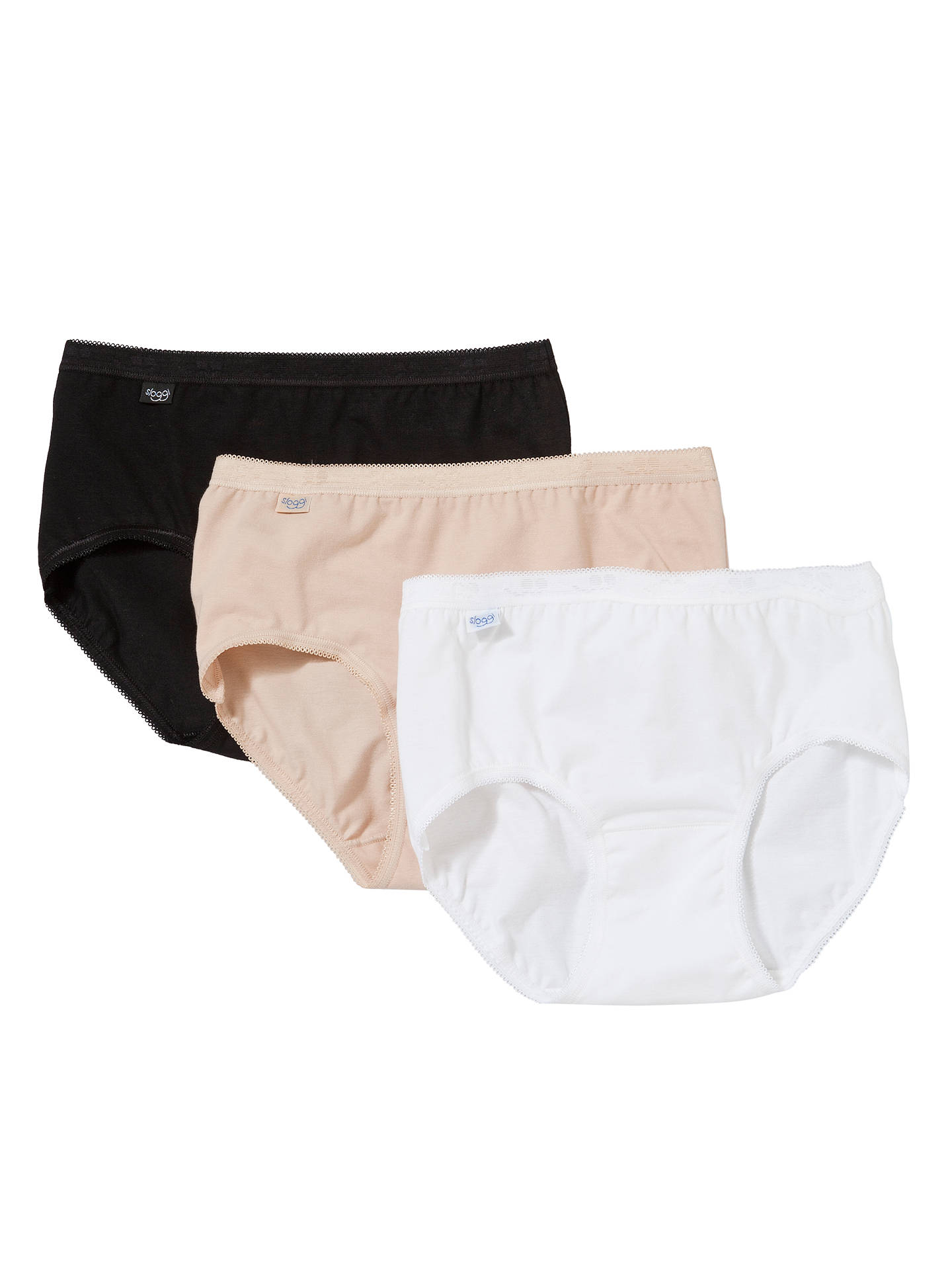 White or Skin Cotton Rich Maxi Brief *Special 4 Pack Black Womens Sloggi Basic