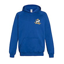 Buy The Swaminarayan School Senior Boys' Hooded Sports Sweatshirt, Royal Blue Online at johnlewis.com