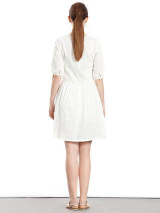 Buy Paisie Crochet Lace Panel Dress, White, 10 Online at johnlewis.com