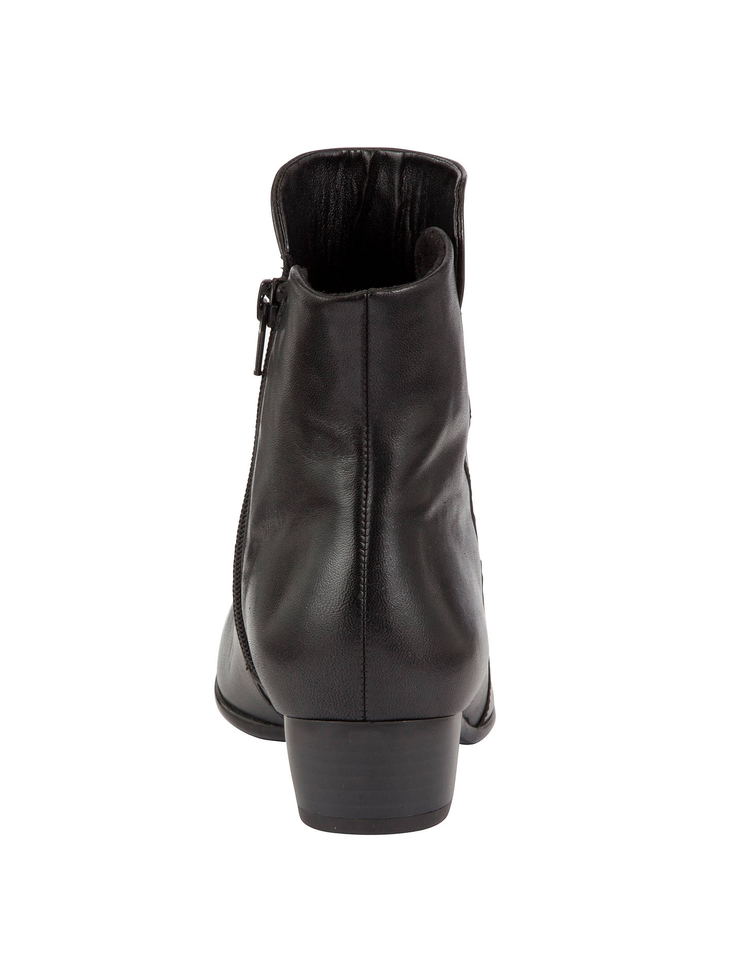 cfe11aab7672 ... BuyGabor Jensen Leather Ruched Ankle Boots, Black, 3 Online at  johnlewis.com ...